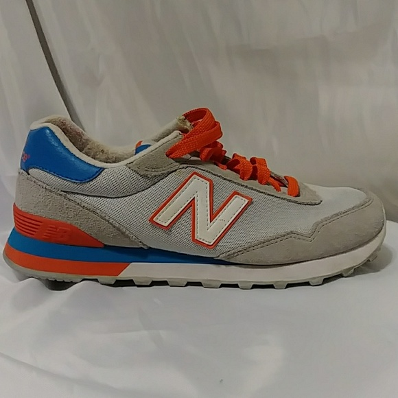 new balance grey orange blue